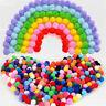 100pcs 15mm Pompoms Felt Ball DIY Handcraft Plush Fur Pom Poms Balls Home Decor