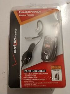 LG VX5200 Headset Car Charger Leather Cell Phone Case Essential Package Verizon