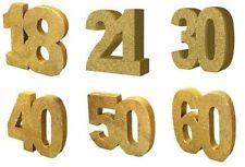 Globos de fiesta aniversario número de color principal oro