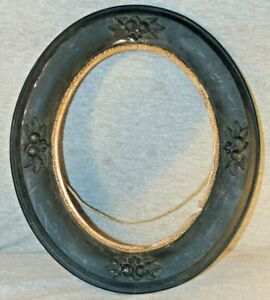 Antique Victorian Oval Mourning Picture Frame for 8 x 10 Image