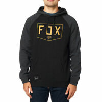 FOX racing Felpa cappuccio uomo shield Raglan black felpata autunno inverno