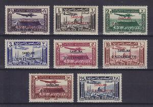 ALEXANDRETTE SYRIA 1938, AIR MAIL, YVERT PA1-PA8, MLH*