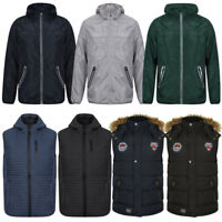 Mens Tokyo Laundry Dissident Gilet Zip-Up Windbreaker Hooded Jacket Size S-XL