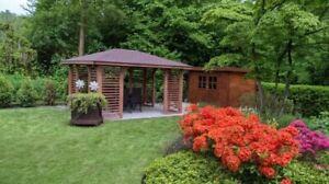Pavillon Holzpavillon Gartenlaube 300x300 350x350 VENEZIA