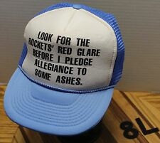"""""""LOOK FOR THE ROCKETS' RED GLARE BEFORE I PLEDGE ALLEGIANCE TO SOME ASHES"""" HAT"""