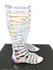 Just Cavalli Hologram Gladiator Sandals - Multi - EU 37/UK 4 - RRP £220+ - New
