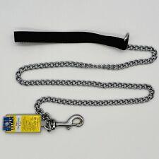 Titan 4' Dog Leash Heavy 3.0 mm Chain  05503 Training Chrome Plated New USA Made