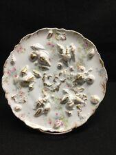 Rare T. Haviland Limoges Pink Rose Molded Shell Plate Castle Mark Ca.1892