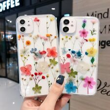 Dried Flower Soft TPU Phone Cover Case For iPhone 7 8+ 11 Pro XS Max XR 12 mini