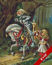 ALICE IN WONDERLAND THE WHITE KNIGHT LEWIS CARROL CANVAS PAINTING ART PRINT