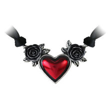 Blood Heart Rose Pendant/Choker - Alchemy Gothic Jewellery P746