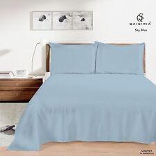 Luxury QAISIRIA 100% Cotton&Poly Flat BED Sheet Single Double King&Pillow Covers