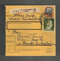 1942 Frankenstein Germany Lager # 1 Parcel Receipt Cover