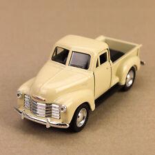 1953 Classic Chevrolet 3100 Pick-Up Ute Cream Die-Cast Model Car 12cm Pull-Back