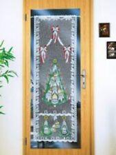 Tür-Gardine Weihnachten 175 x 90cm Scheibengardine Weihnachtsdekoration