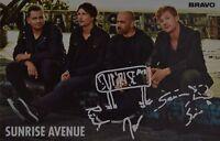 SUNRISE AVENUE - Autogrammkarte - Autograph Autogramm Samu Haber Clippings