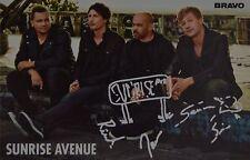SUNRISE AVENUE - Autogrammkarte - Autograph Autogramm Samu Haber Clippings NEU