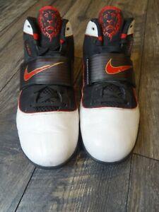 Nike Lebron 407707 100 Zoom Soldier IV 4 Men's Shoes White/Red-Black Metallic 14