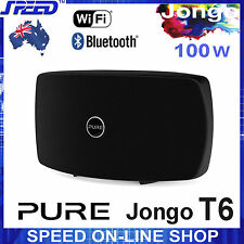 PURE Jongo T6 Wireless WiFi Bluetooth® Speaker System - 100W RMS - Black Colour