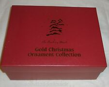 """DANBURY MINT """"1987 GOLD HOLIDAY ORNAMENTS"""" COMPLETE SET OF 12 IN BOX"""" 23KT, EUC!"""