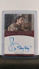 Game of Thrones Season 8 Staz Nair (Qhono) Inscription Auto Card