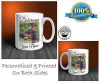 Doberman Personalised Ceramic Mug: Perfect Gift. (D368)