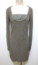 TOMMY HILFIGER Abito Vestito Donna Lana Woman Wool Dress Sz.L - 46