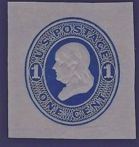 US #W77 ~ 1800s Reay Mint PSE Blue-on-Manila Wrapper Cut Square...Free Shipping!