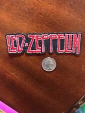 "LED ZEPPLLIN Rock and Roll group embroidered iron on PATCH 4.5"" X 1"" APPX"