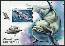 Angola 2018 MNH Dolphins 1v M/S Mammals Marine Animals Stamps