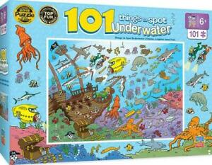 UNDERWATER JIGSAW PUZZLES MASTERPIECES 101PC THINGS TO SPOT UNDERWATER