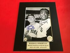 Mickey Mantle and Willie Mays Signed 5x7 Photo w/ COA