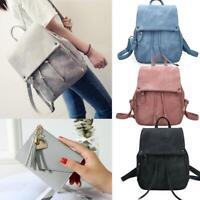 Women Mini Leather Backpack Small Travel Rucksack Ladies School Bag