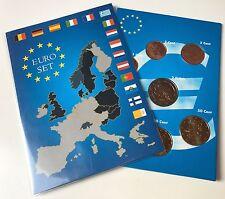 Euro-KMS FINNLAND gem. 1999-2001 - UNC - alle 8 Euromünzen 1 Cent - 2 Euro