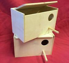 Breeding Wooden Nest Box Nesting Roost Bird Lovebirds Canary Finch