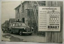 RENAULT Prairie Commercial Sales Brochure Jan 1953 #VT 567 5301 French text
