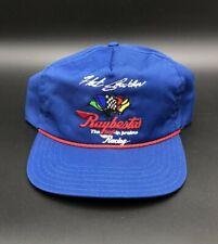 Vintage Hut Stricklin Raybestos Racing Rope Trucker Hat NASCAR Cap Blue Red