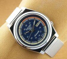 VINTAGE SEIKO 5 EXCELLENT BLUE DIAL AUTOMATIC JAPAN MEN'S  WRIST WATCH 37.5mm...