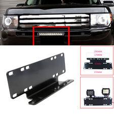 Car Front Bumper License Plate Mount Bracket Holder for Offroad Lamp Light Bar