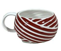 Starbucks coffee mug red white stripes porcelain 12 ounce cup colorful drinkware