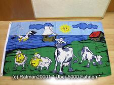 Fahnen Flagge Kühe Strand Sommer - 90 x 150 cm