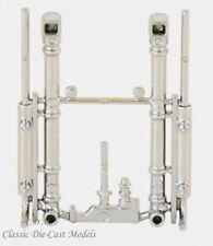 Heavy Duty Chrome Stacks (2) Piece Set Herpa Promotex Trucks 1/87 HO Scale 5425