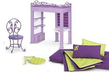 American Girl Doll Mckenna's Loft Bed Frame and Bedding with Chair and Pad NEW!!