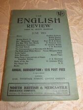 Antique Book Of The English Review, By Austin Harrison - 1913