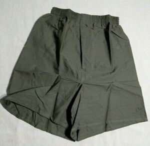 MILITARY BOXER SHORTS Mens NIP Army Green Olive Cotton Underwear 3 Pack  X SMALL