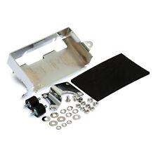 Batteria piastra base con kit di montaggio cromo, per Harley - DAVIDSON 80-86 FX
