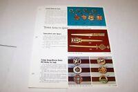 Vintage - TERRA SANCTA GUILD key chains - pins etc - ad sheet #0548