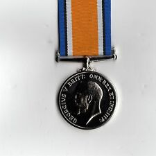 British War Medal 1st World War GV Replacement medal with engraving detail