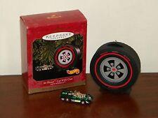 Jet Threat Car with Case Hot Wheels MIB 1999 Hallmark Christmas Set 2 Ornaments