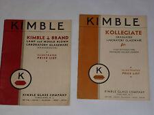 VINTAGE 1936 KIMBLE GLASS CO. LABORATORY GLASSWARE CATALOG! UNGRADUATED! +BONUS!